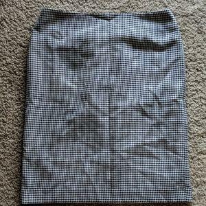 Talbot's Black and white Pencil Skirt
